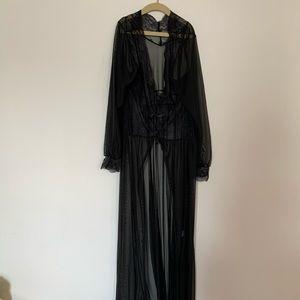 Other - Black Sheer Babydoll Robe
